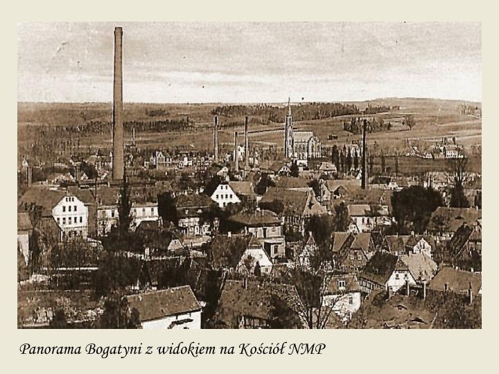 Panorama Bogatyni z widokiem na Kościół NMP