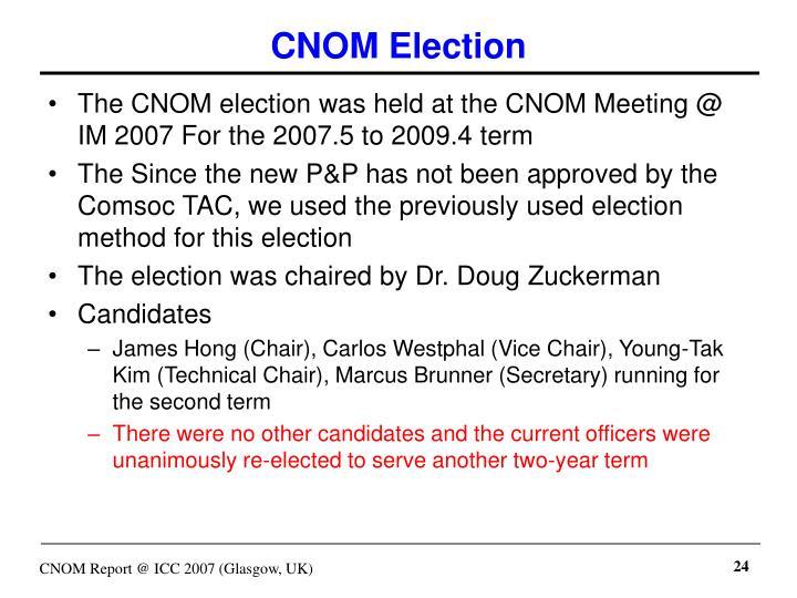 CNOM Election