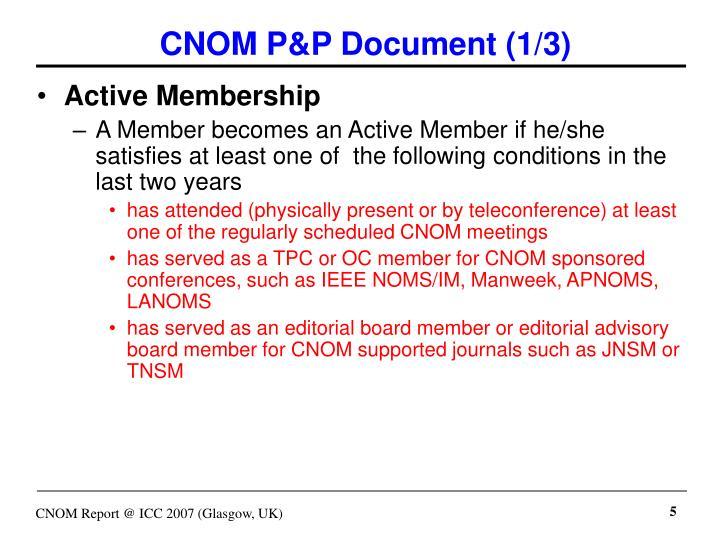 CNOM P&P Document (1/3)
