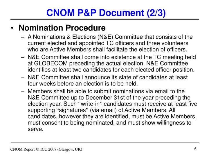 CNOM P&P Document (2/3)