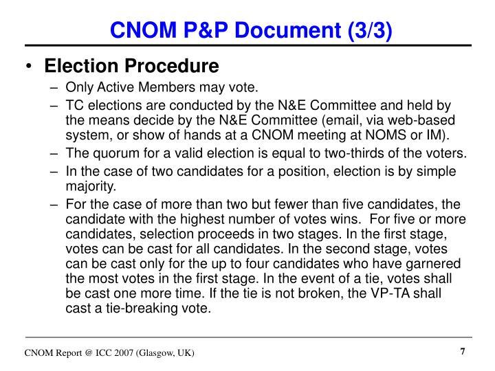 CNOM P&P Document (3/3)