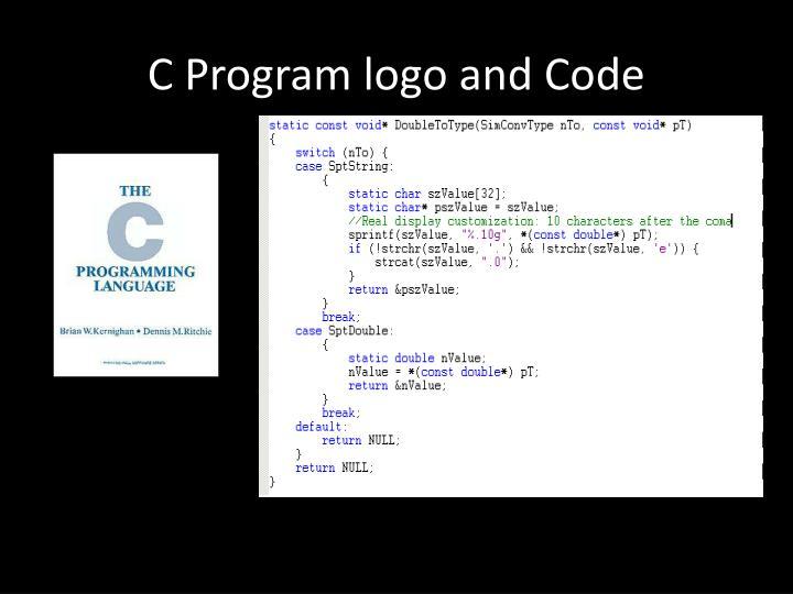 C Program logo and Code