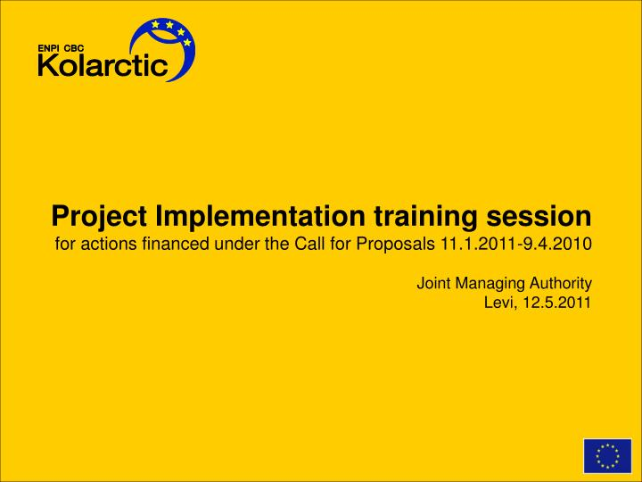 Project Implementation training session
