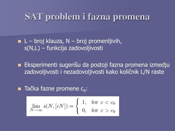 SAT problem i fazna promena