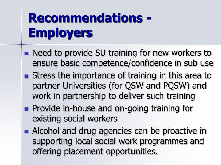 Recommendations - Employers