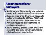 recommendations employers