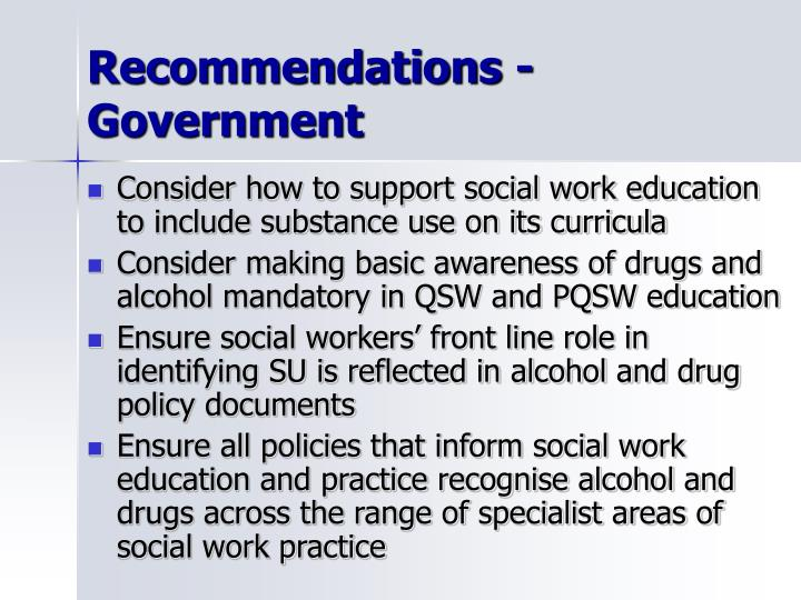Recommendations - Government