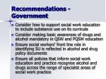 recommendations government