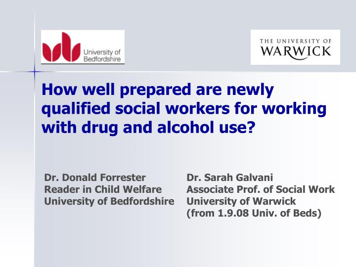How well prepared are newly qualified social workers for working with drug and alcohol use?
