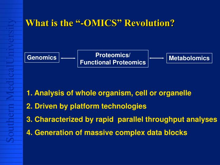 "What is the ""-OMICS"" Revolution?"