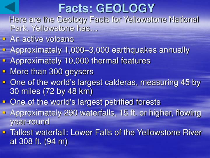 Facts: GEOLOGY