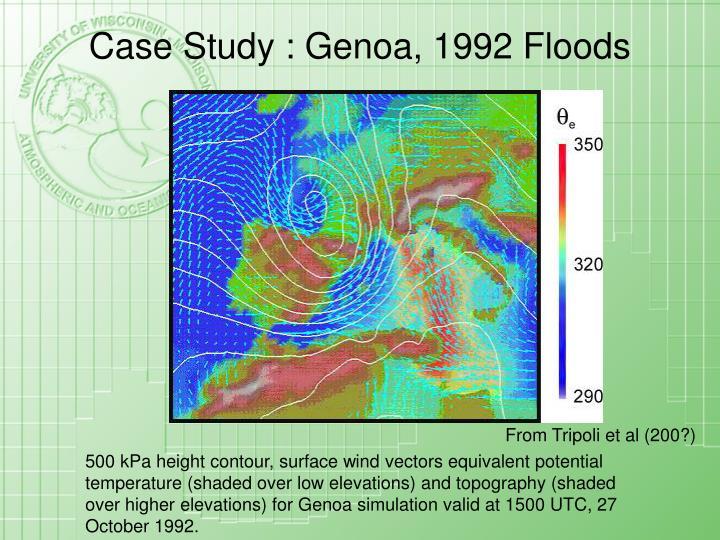 Case Study : Genoa, 1992 Floods