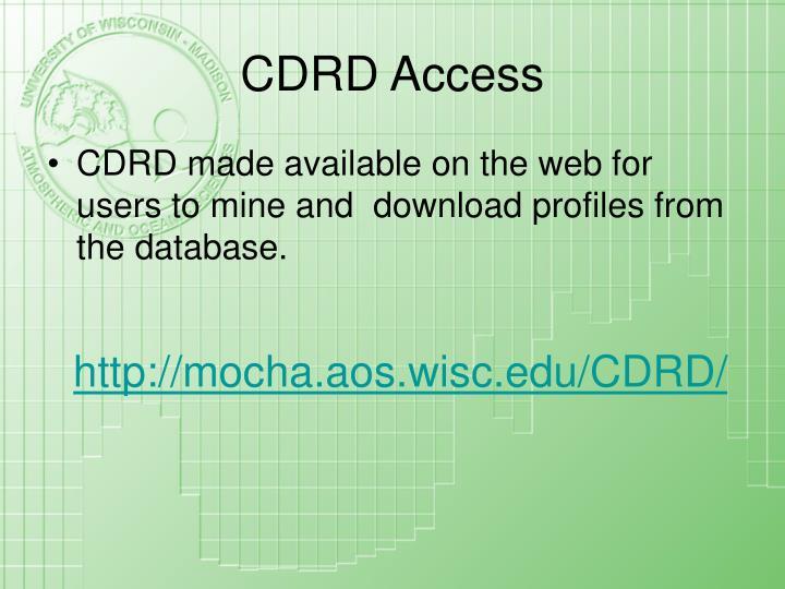 CDRD Access