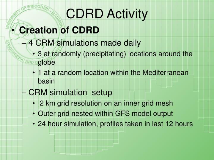 CDRD Activity
