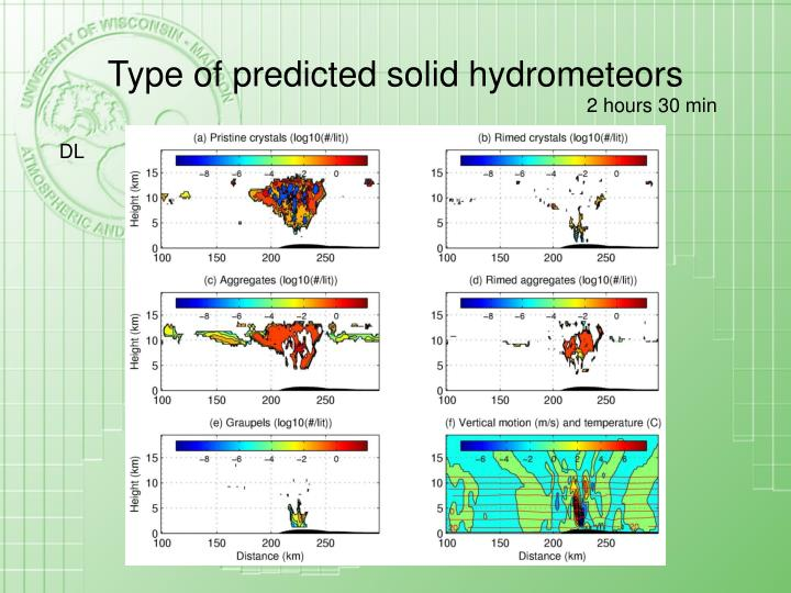 Type of predicted solid hydrometeors