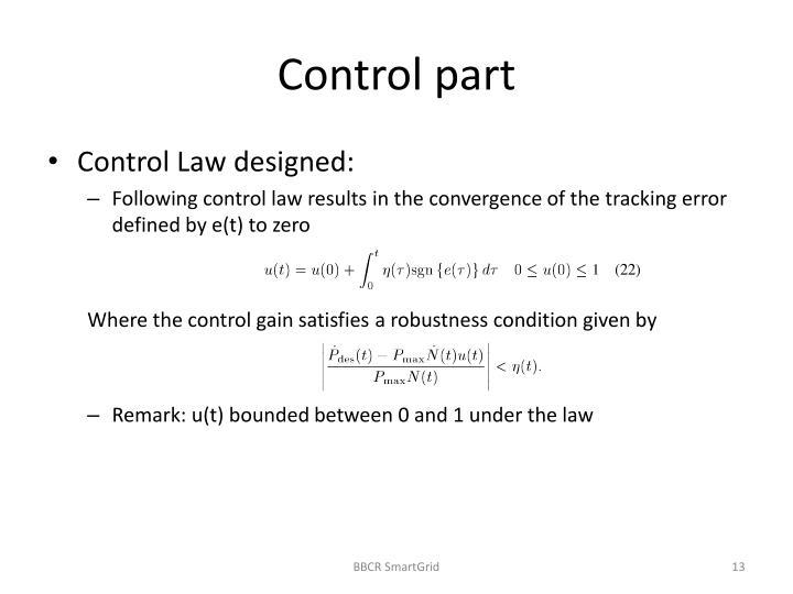 Control part