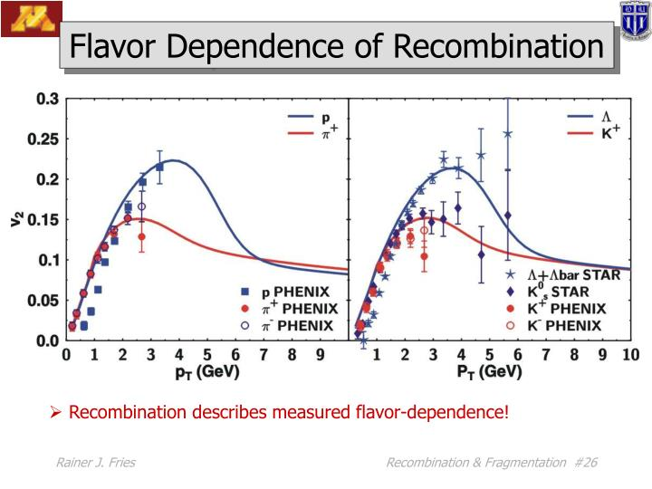 Flavor Dependence of Recombination