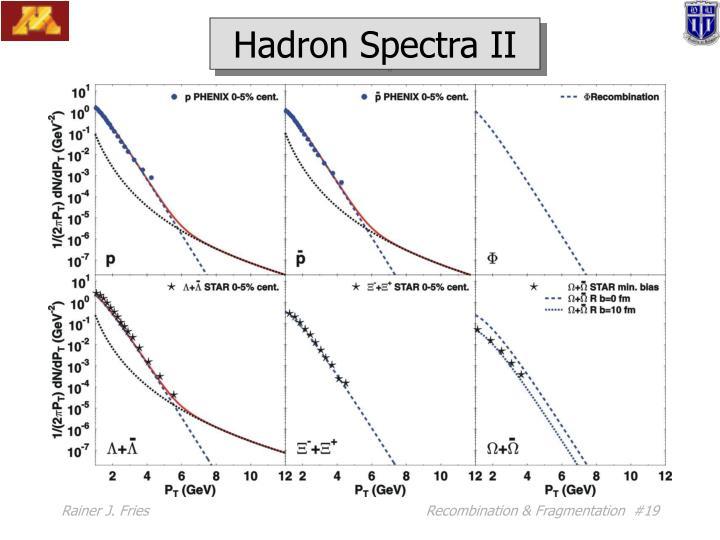 Hadron Spectra II