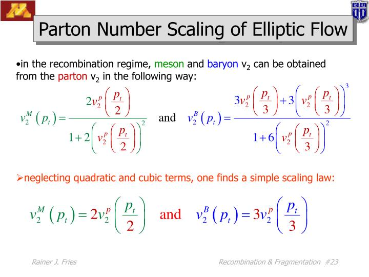 Parton Number Scaling of Elliptic Flow