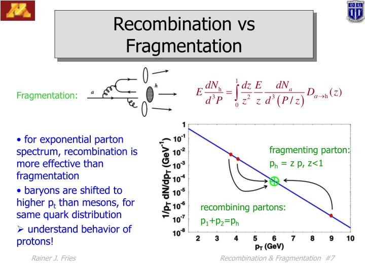 Recombination vs Fragmentation