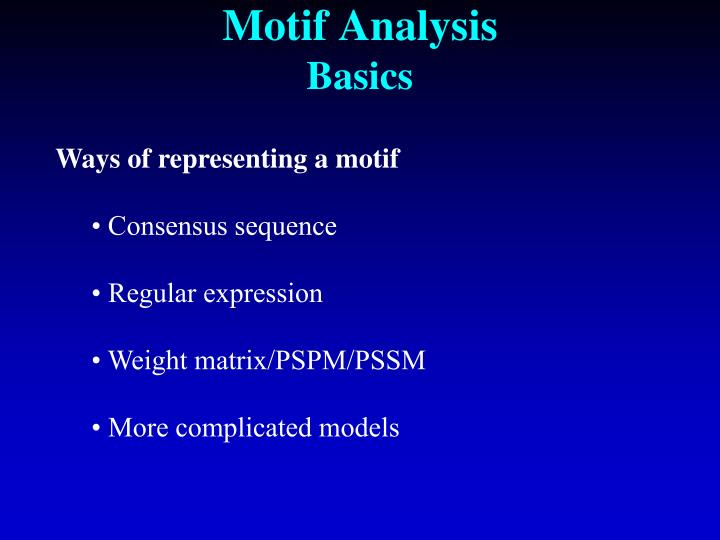 Motif Analysis