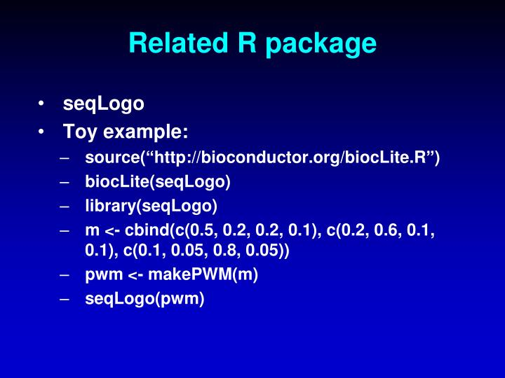 Related R package