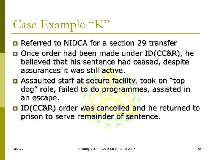 """Case Example """"K"""""""