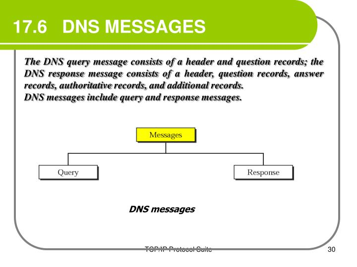 17.6   DNS MESSAGES
