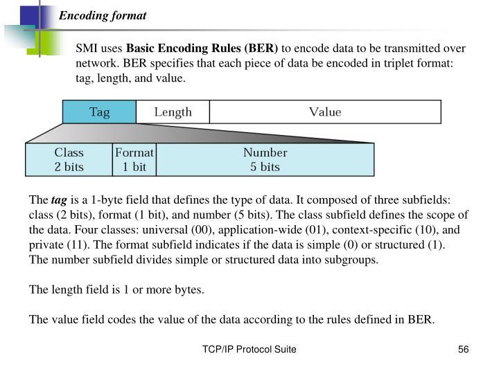 Encoding format