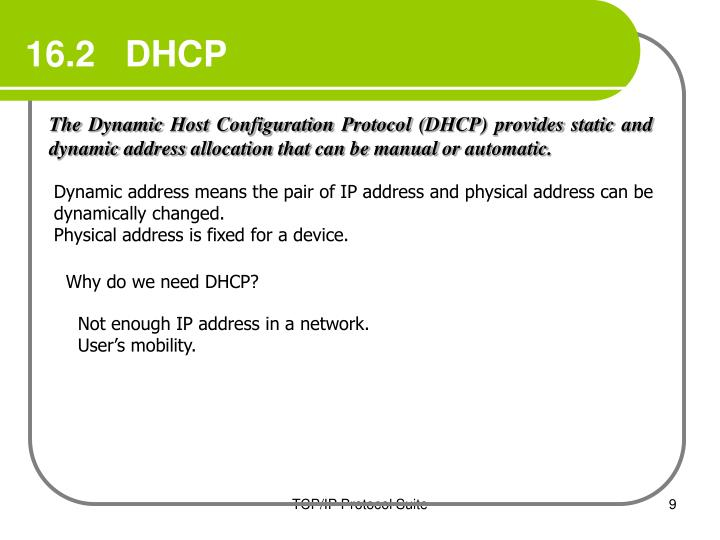 16.2   DHCP