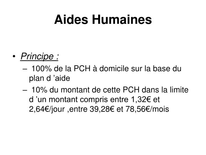 Aides Humaines