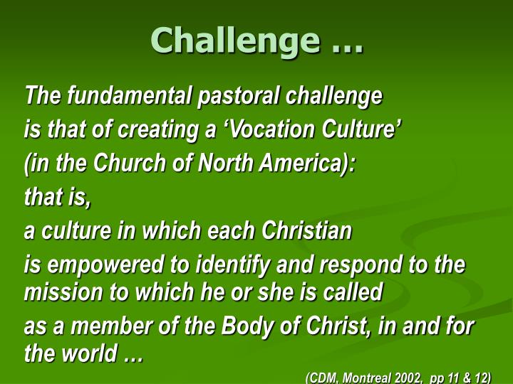 Challenge …