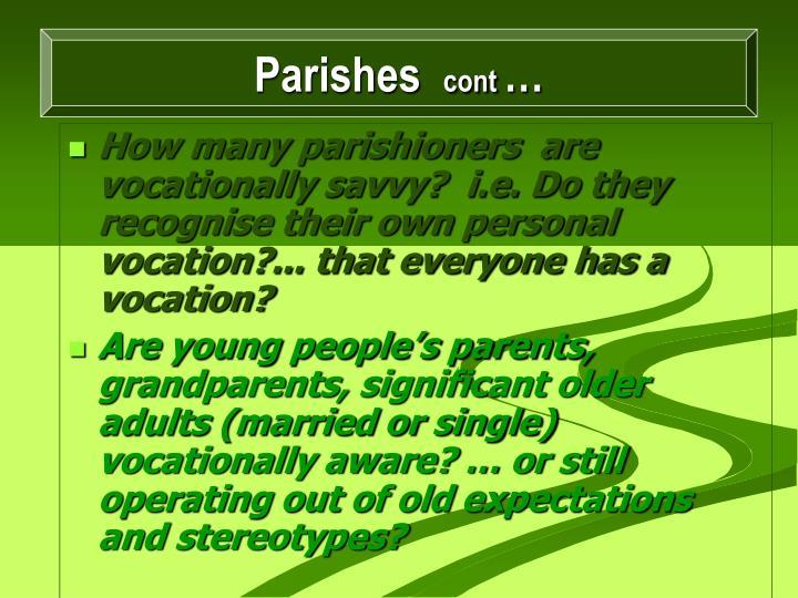 Parishes,