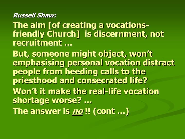 Russell Shaw: