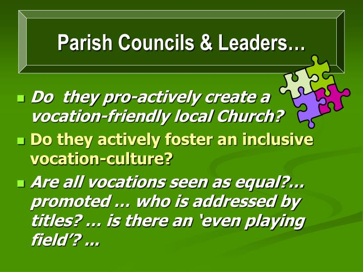 Parish Councils & Leaders…