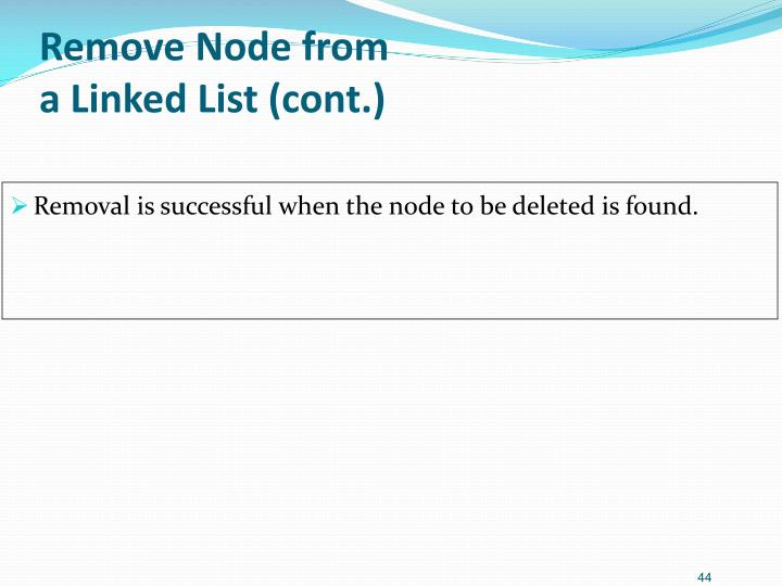 Remove Node from