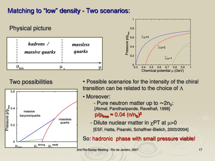 "Matching to ""low"" density - Two scenarios:"