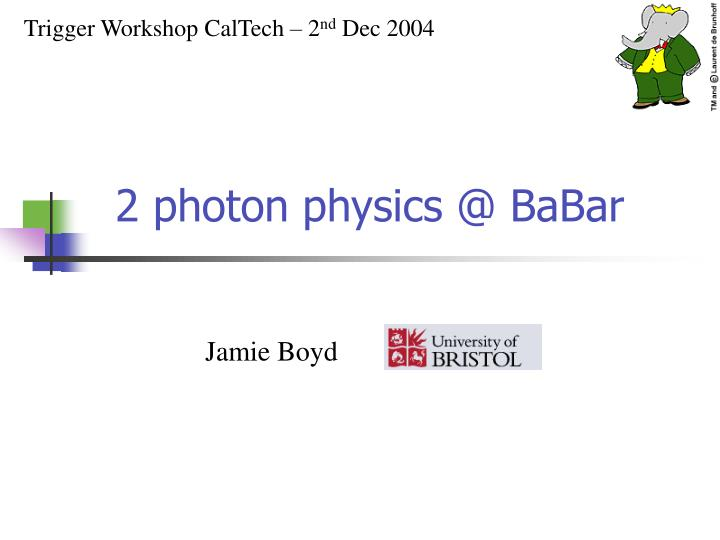 2 photon physics @ babar