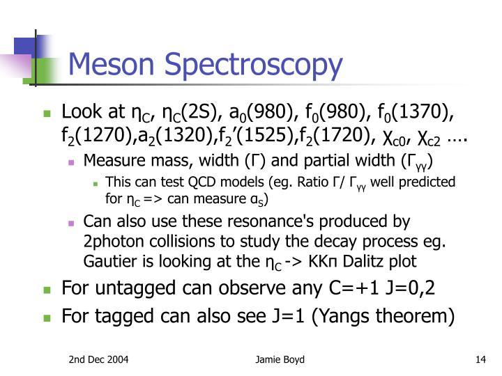 Meson Spectroscopy