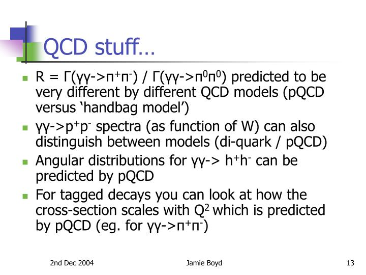 QCD stuff…