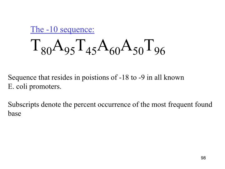 The -10 sequence: