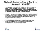 national science advisory board for biosecurity nsabb