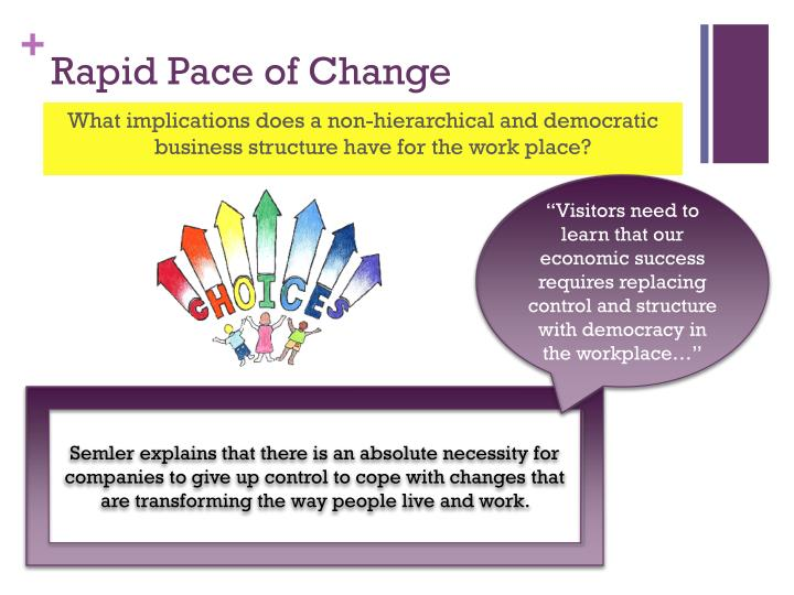 Rapid Pace of Change
