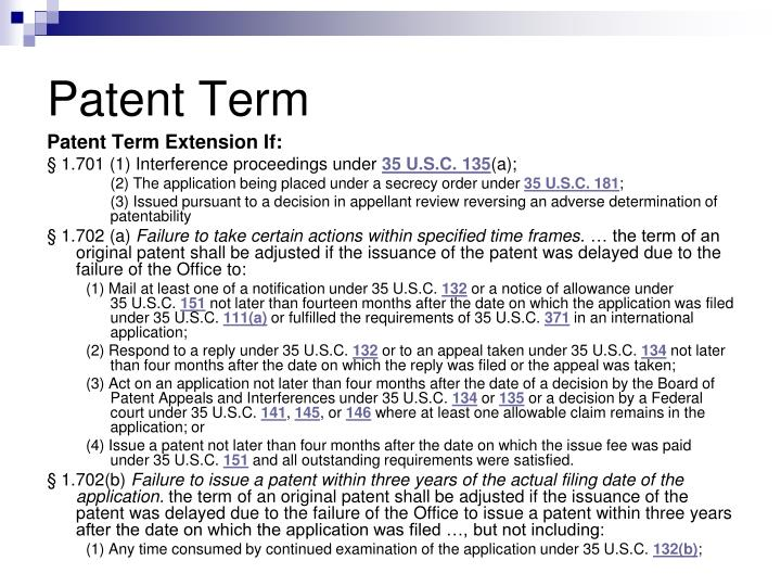 Patent Term