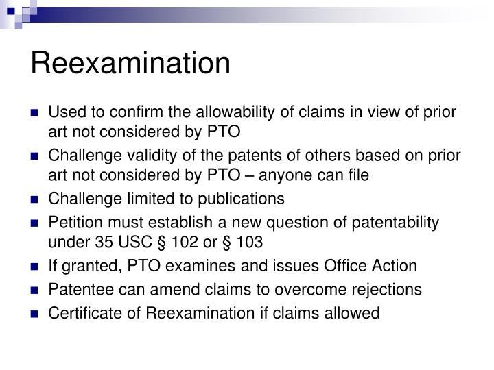 Reexamination