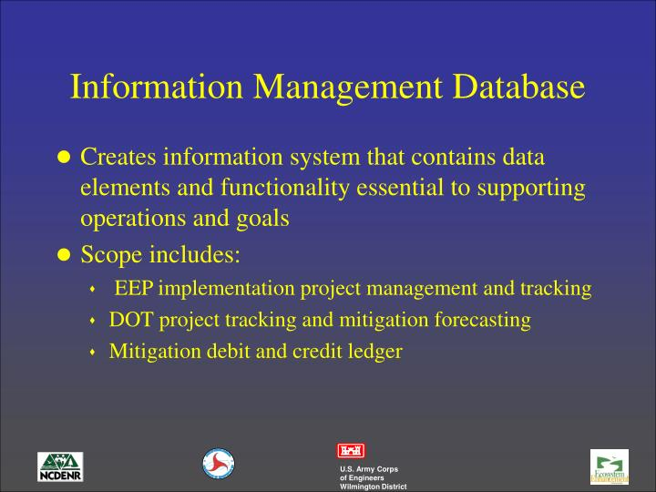 Information Management Database