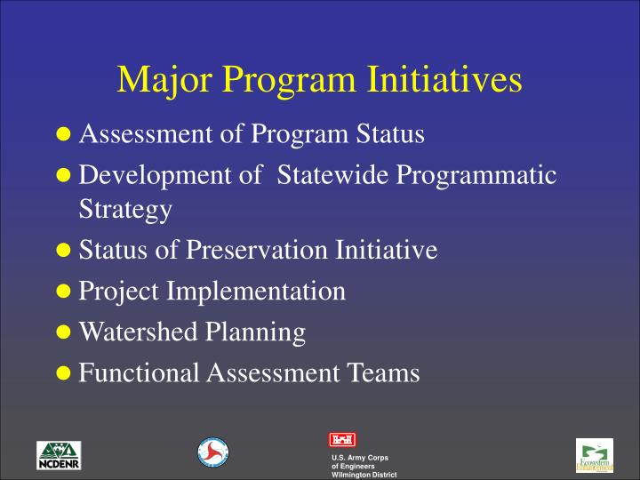 Major Program Initiatives