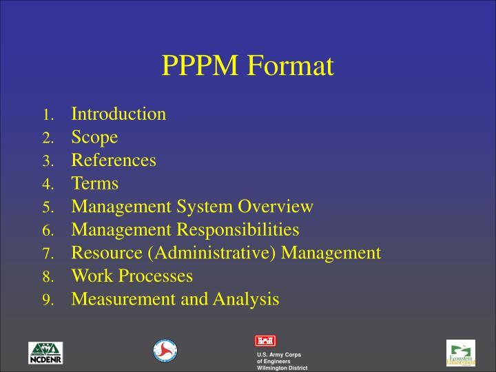 PPPM Format