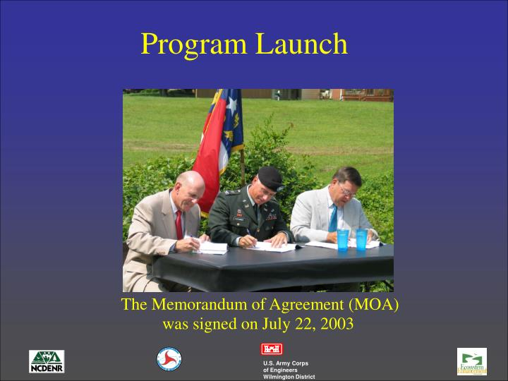 Program Launch