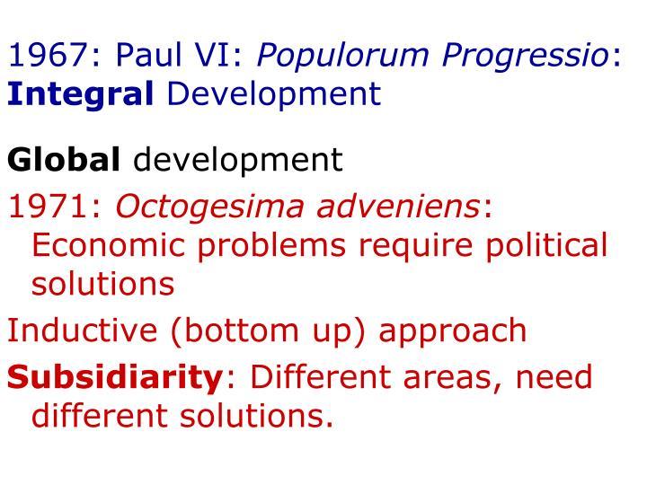 1967: Paul VI: